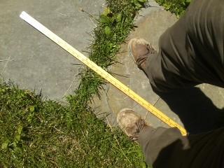 0621181409.jpg June 2018 boots yardstick stone walkway